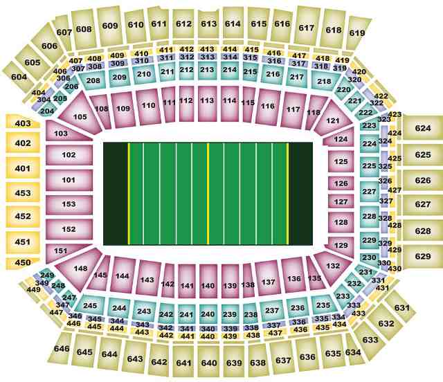 Indianapolis Colts Seating Chart For Lucas Oil Stadium